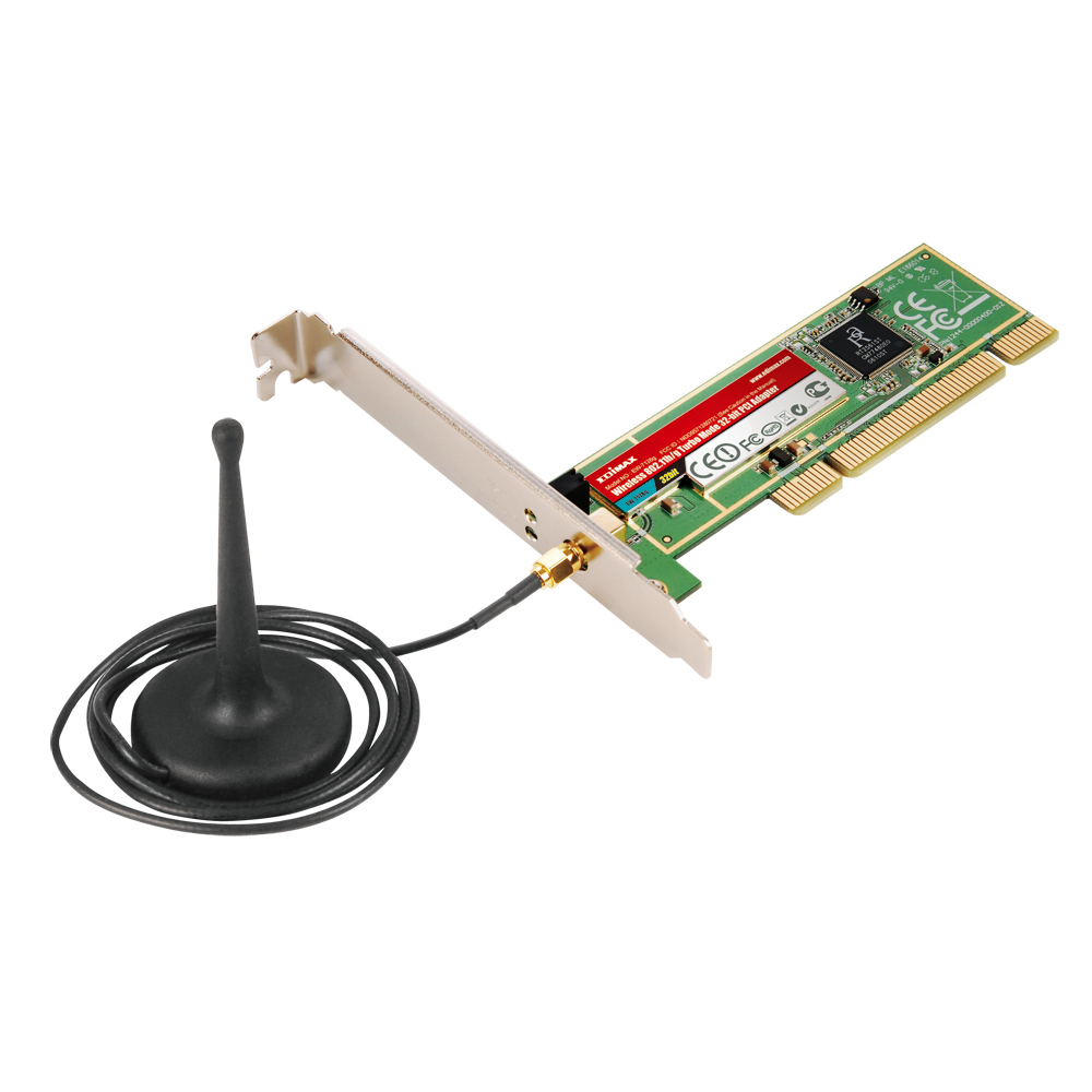 Pci 802. 11g wireless network adapter card with separate antenna.